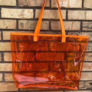 Clinique Transparent Neon Tote Bag